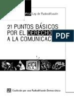 21 Puntos Básicos - Coalición para una Comunicación Democrática