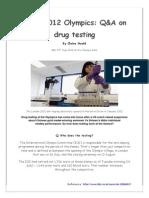 london 2012 olympics drug testing