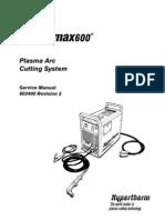 Hypertherm Powermax 600 Service Manual 803400r2 En