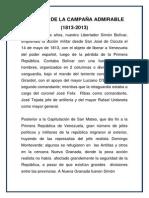 200 AÑOS DE LA CAMPAÑA ADMIRABL1