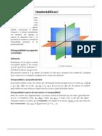 Ortogonalidad (matemáticas)