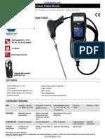 Kimo Kigaz 300 Combustion Gas Analyzer Datasheet