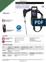 Kimo Kigaz 200 Combustion Gas Analyzer Datasheet