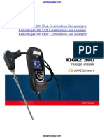 AC Kimo Kigaz 300 Combustion Gas Analyzer Manual