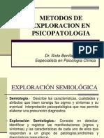 Metodos de Exploracion en Psicopatologia