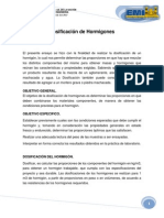 DOSIFICACIÓN DE HORMIGONES