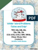 maths - word problems, winter ed.