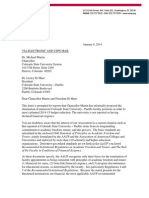AAUP Letter to Chancellor Martin and President Di Mare 1-8-14