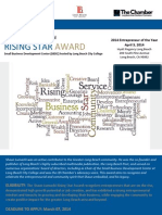 Rising Star Award 2014 Application