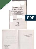 De Tezanos Araceli Una Etnografia de La Etnografia