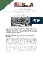 Historia Del Congreso Peruano