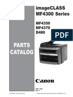 Canon Imageclass D480, MF 4300, 4350D, 4370DN Parts Manual