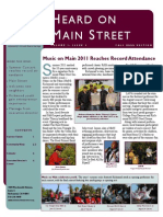 Heard on Main Street Fall 2011 Newsletter