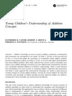 2002 Children Concept of Addition