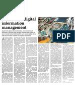 The task of digital information management