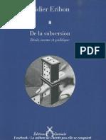 000 [Didier Eribon] de La Subversion Droit, Norme Et