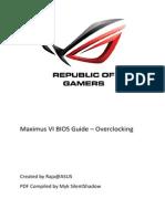 Maximus VI BIOS Guide - Overclocking
