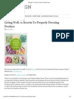 Living Well_ 11 Secrets to Properly Freezing Produce