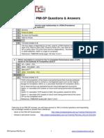 Free PMI-SP Answers