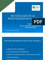 (4) Selección y Formulación del Problema de Investigació