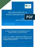 (5) Objetivos de Investigación