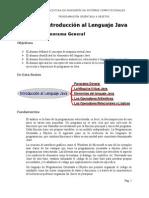 POO Sesión 1. Introducción al Lenguaje Java. Lectura