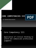core competencies iii somb