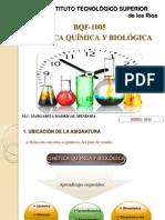 CINÉTICA QUÍMICA Y BIOLÓGICA