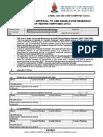 2012_ Application Form, Experimental Animals - Questionaire (S4524-12)