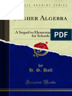 Higher Algebra a Sequel to Elementary Algebra for Schools 1000051650