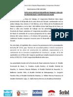 CONGRESISTA MODESTO JULCA SOSTUVO REUNIÓN DE TRABAJO  CON LOS ALCALDES PROVINCIALES Y DISTRITALES DE HUARI
