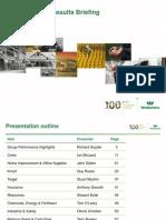 WES 2014 Half-Year Results Presentation