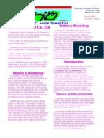 Fifth Grade Newsletter October 2009