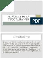 Principios de la tipografía web