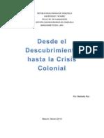 La Conquista de Venezuela y Sus Consecuencias Ensayo)