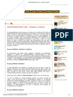 Responsabilidade Civil - Subjetiva e Objetiva
