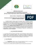 Edital PRONATEC-1 IFAL