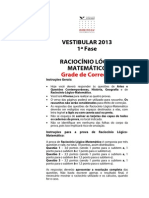 Direito Gv Rac Logico Grade Correcao Ingr 2013