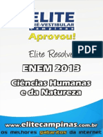 Elite Resolve ENEM 2013 Humanidades Natureza