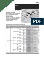 Omron Proximity Data Sheets