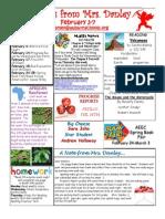 newsletter february 3-7