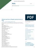 Clínicas eps Sura en Bogotá, pertenecientes al POS