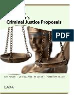 The 2014-15 Budget-Governor's Criminal Justice Proposals