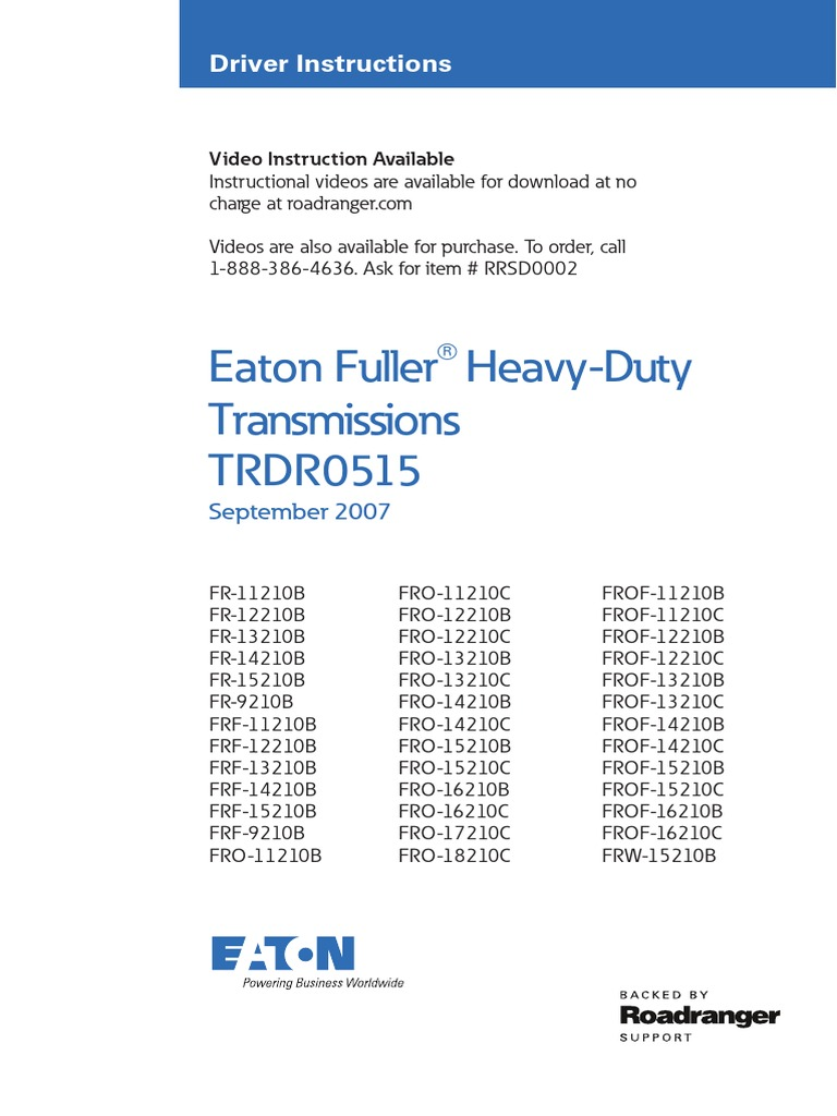 10 Speed Eaton Fuller | Manual Transmission | Clutch