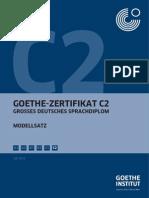 Goethe Institut C2 Modellsatz