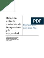 Modelo Monografia Viscosidad Funcion Temperatura