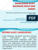 Manajemen Audit Lingkungan Dan Sanksi