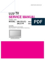 Lg 26lc51-c 26lc7r Chassis Lp78a Sm