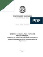 TCC O SERVIÇO SOCIAL NA ATUAL POLÍTICA DE