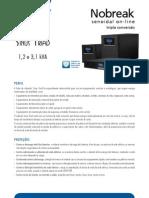 Catalogo de Nobreak SMS Sinus Triad 1,2 e 3,1 KVA (25400 130821)